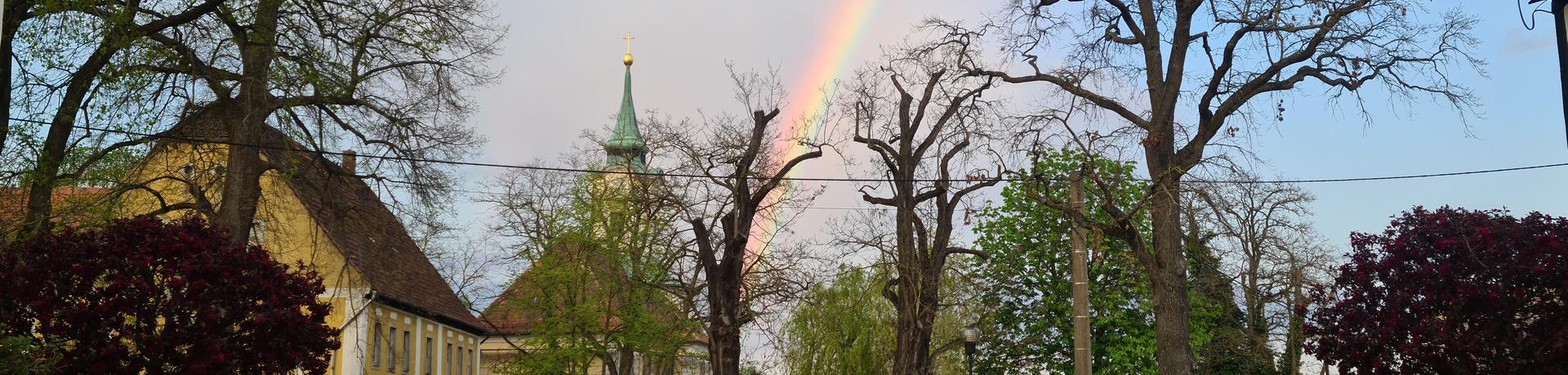 Kirche Schmannewitz Regenbogen